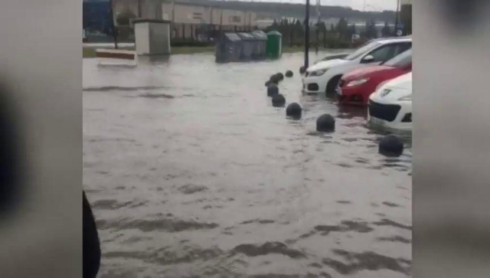 Graves inundaciones en Burgos por una fuerte tormenta