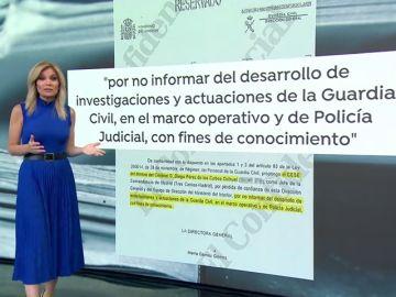 Pérez de los Cobos piensa utilizar el oficio de la directora de la Guardia Civil en el recurso por su destitución