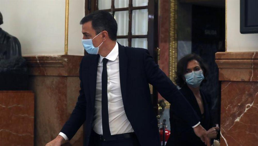 Pedro Sánchez, en el debate sobre la sexta prórroga del estado de alarma