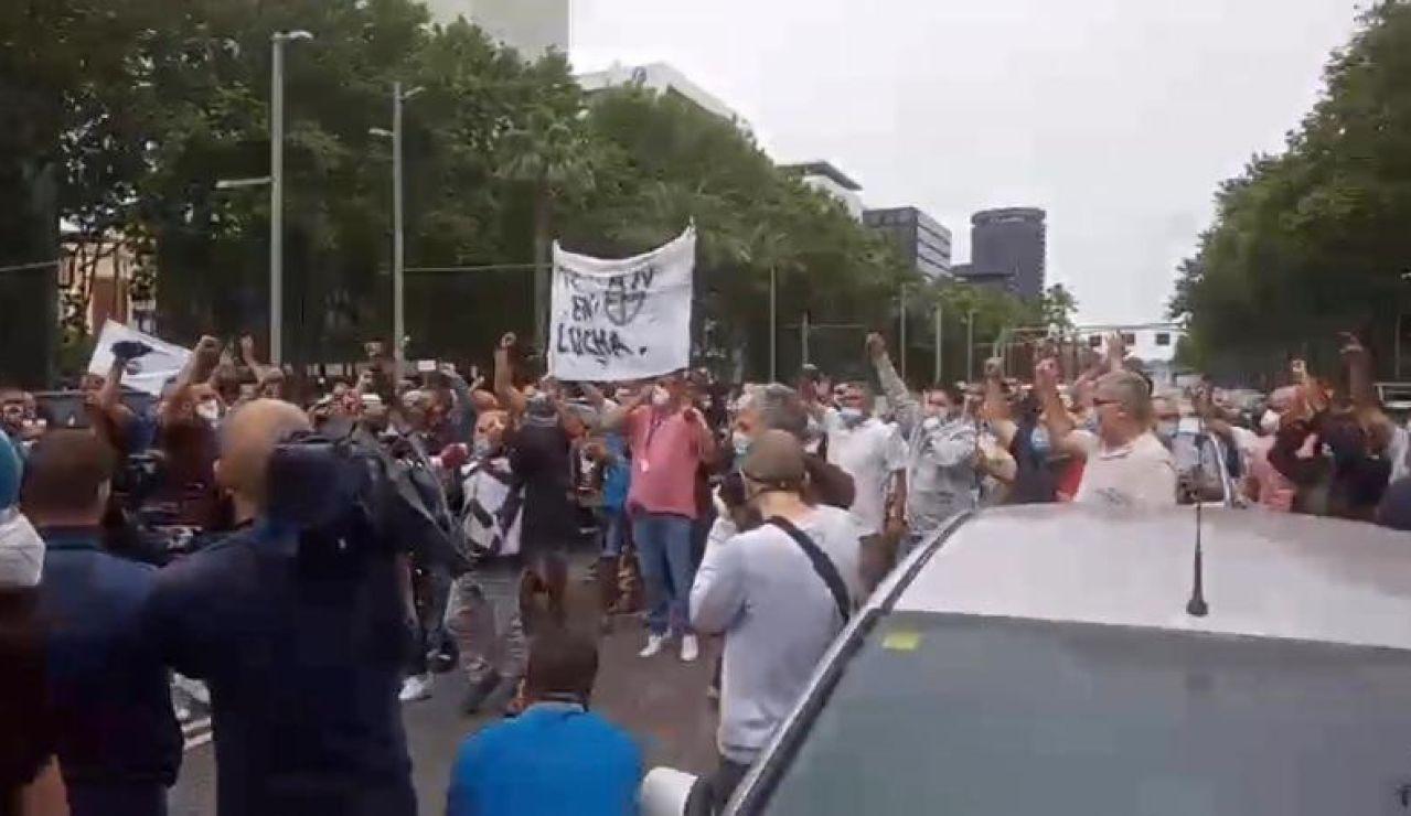 Protesta de trabajadores de Nissan