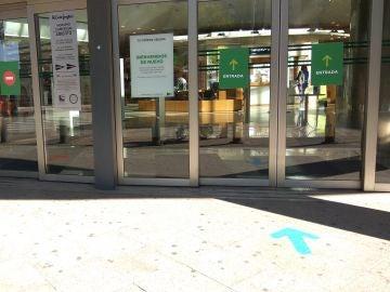 Nueva entrada en un centro comercial
