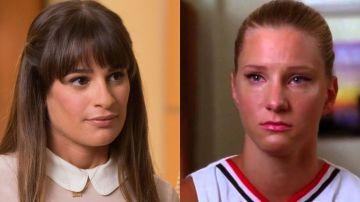 Lea Michele y Heather Morris en 'Glee' como Rachel Berry y Brittany Pierce