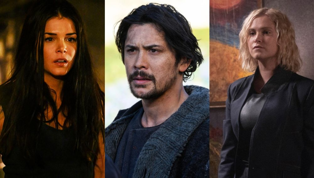 Octavia, Bellamy y Clarke en la temporada 7 de 'The 100'