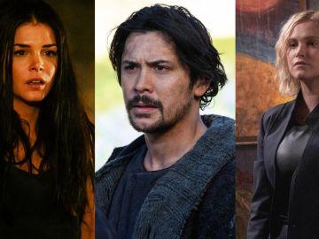 Octavia, Bellamy y Clarke en la temporada 7 de 'The 100'