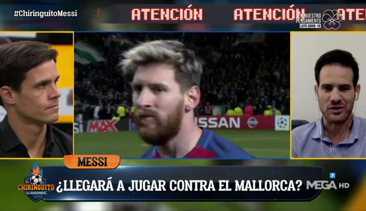 """Quim Domènech: """"Messi podría perderse el primer partido ante el Mallorca"""""""