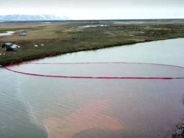 Derrame de combustible en el Ártico