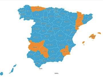 Mapa rebrote