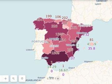 El mapa interactivo de la transferencia del conocimiento científico en España