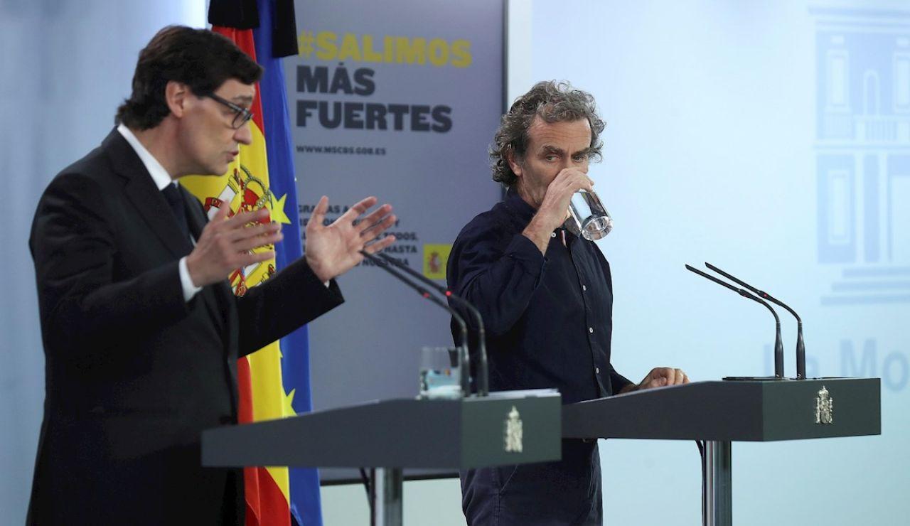 Salvador Illa y Fernando Simón en rueda de prensa