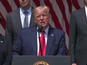 """Donald Trump utiliza a George Floyd para hablar de economía: """"Ojalá nos esté mirando, es un gran día para él"""""""
