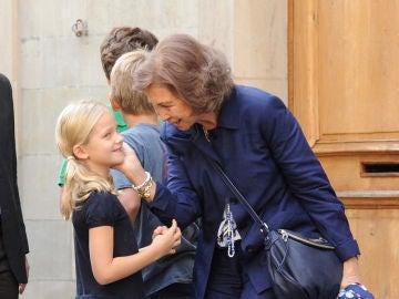 La reina Sofía y su nieta Irene Urdangarin
