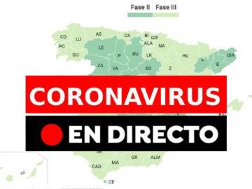 Coronavirus España: Provincias que pasan a fase 2 y fase 3 de la desescalada y última hora, en directo