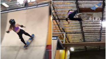 Una skater de 11 años publica su espeluznante caída en la que se fractura el cráneo