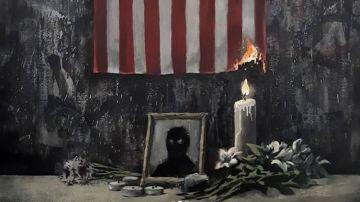 Imagen de la obra de Banksy en homenaje a George Floyd
