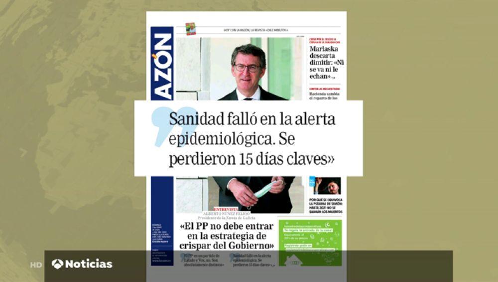 """Núñez Feijóo cree que el PP que no debe entrar en la estrategia de crispación que"""" está realizando el Gobierno"""""""