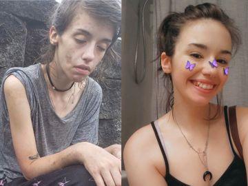 La fotografía que muestra la transformación de Amber Hoffman