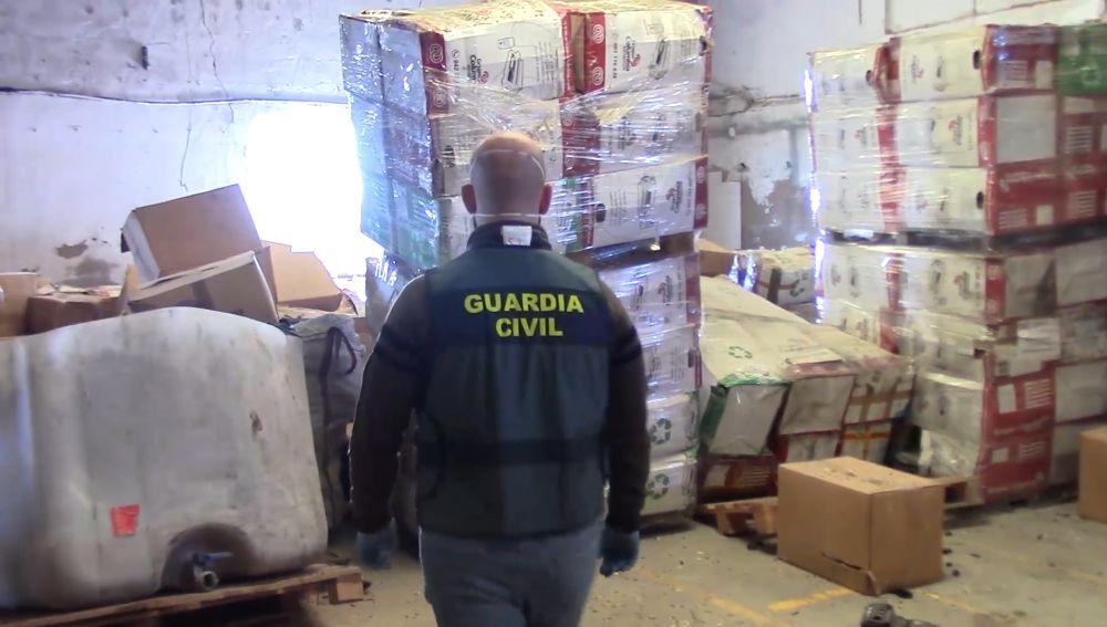 La Guardia Civil encuentra 5.000 toneladas de tóneres de impresión usados