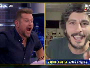 """Antonio Pagudo deja boquiabierto a El Monaguillo con sus marcados abdominales tras """"la dieta del pagudillo"""""""