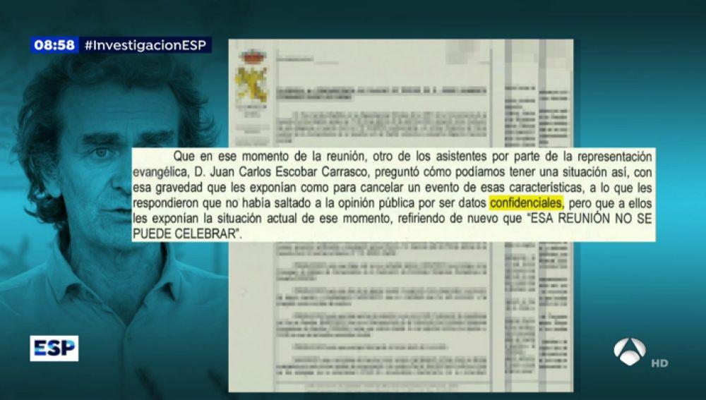 Fernando Simón ocultó datos de la evolución del coronavirus a la opinión pública porque eran confidenciales