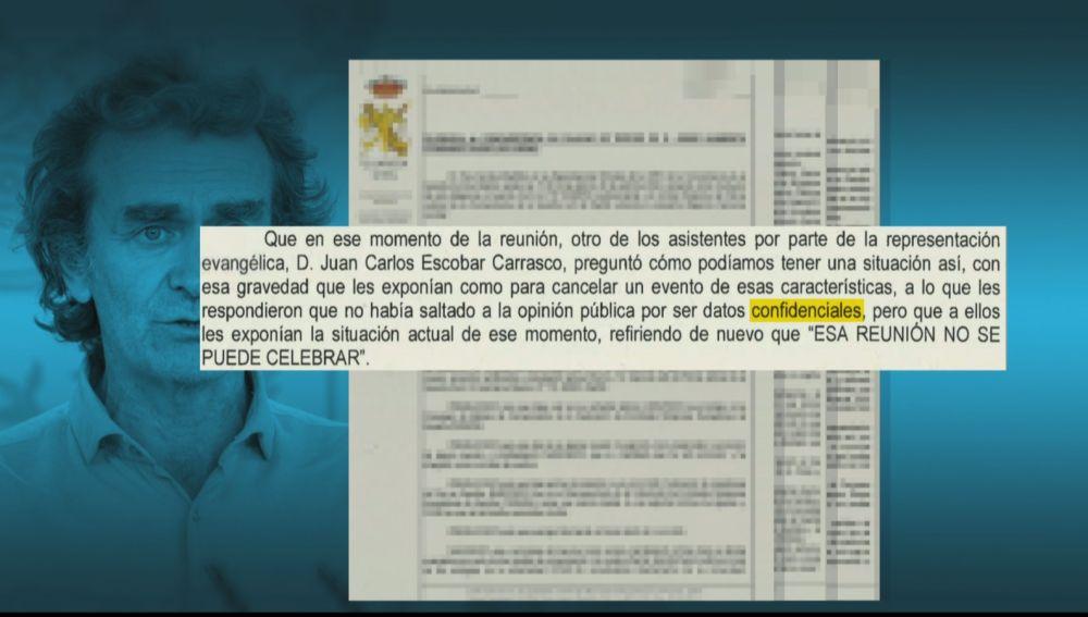 """Fernando Simón habría ocultado datos de la evolución del coronavirus porque eran """"confidenciales"""""""