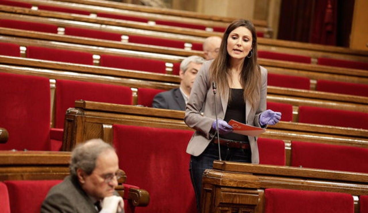 Lorena Roldán, al Parlament l'abril passat
