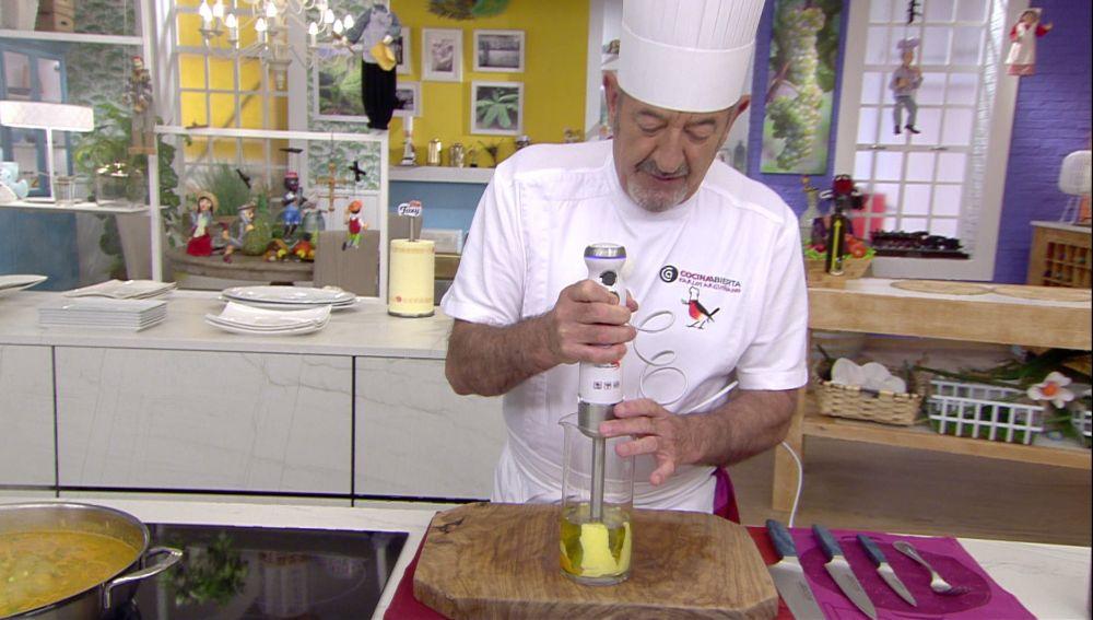 Karlos Arguiñano se atreve con un nuevo ingrediente para hacer mayonesa casera