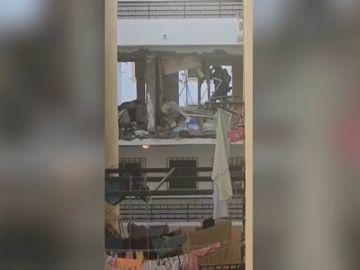 Una explosión de gas en Torre del Mar deja una fallecida y un herido grave