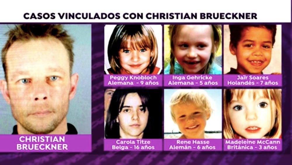 Casos vinculados con Christian Brueckner, como el de Madeleine McCann