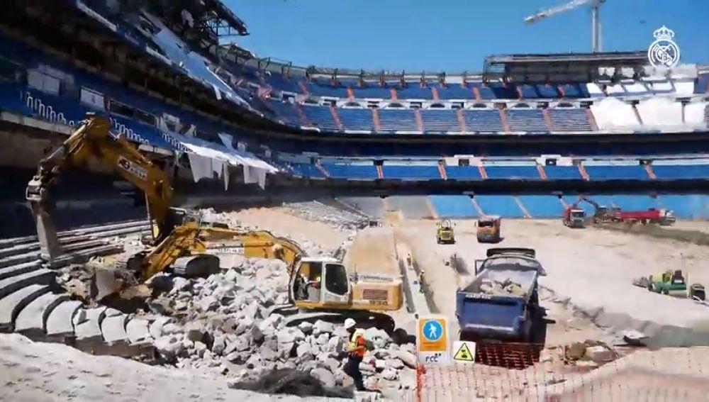 El Santiago Bernabéu, irreconocible por las obras durante la cuarentena por el coronavirus