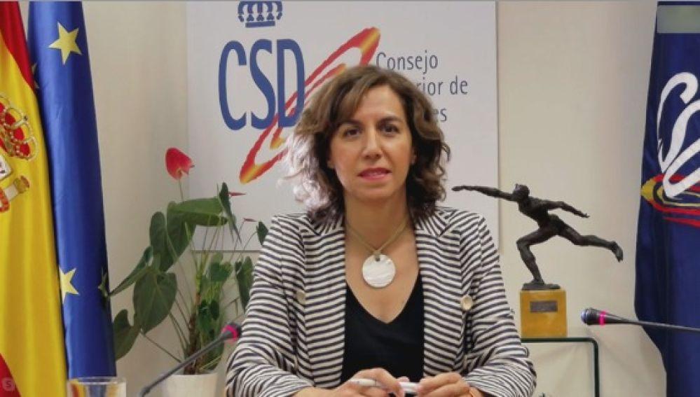 """Irene Lozano insiste en que no habrá público """"en ningún caso"""" en la vuelta de LaLiga tras el coronavirus"""