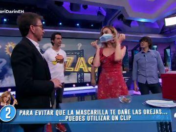 ¿Te duelen las orejas al usar las mascarillas? Marta Hazas triunfa con su truco en 'El Hormiguero 3.0'