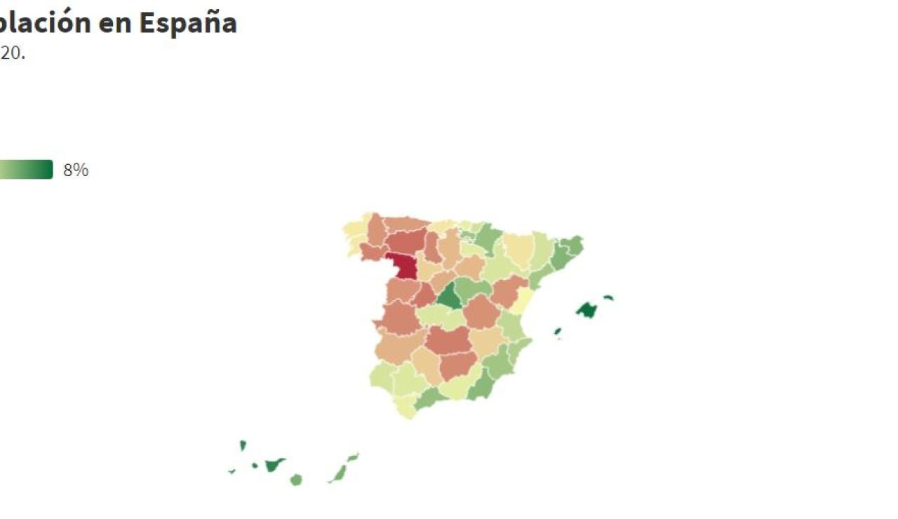 Mapa de la España despoblada