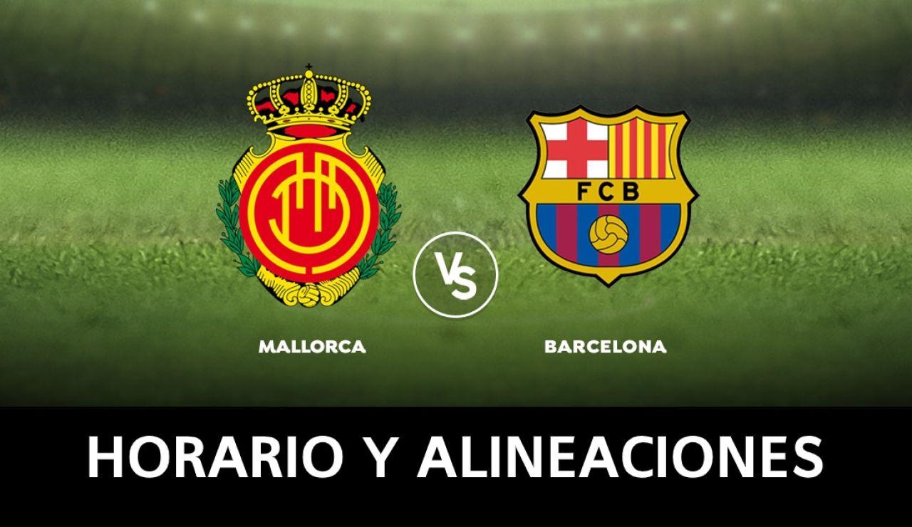 Mallorca - Barcelona: Horario, alineaciones y dónde ver el partido de la Liga Santander en directo