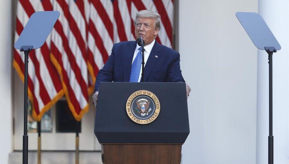 """Trump reinvindica su """"buena relación"""" con el Ejército pese a las diferencias"""