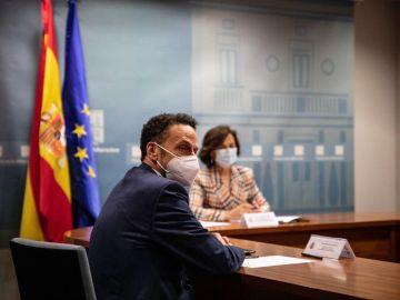 Carmen Calvo y Edmundo Bal