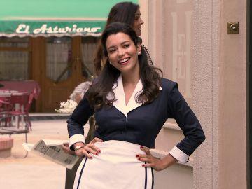 Amelia con uniforme, la debilidad de Luisita