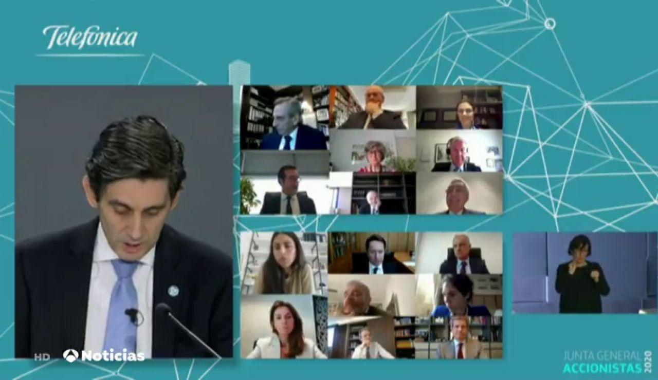 Telefónica mantiene el compromiso con los accionistas y destaca su papel en la crisis del coronavirus