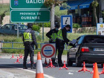 Paso fronterizo entre España y Portugal
