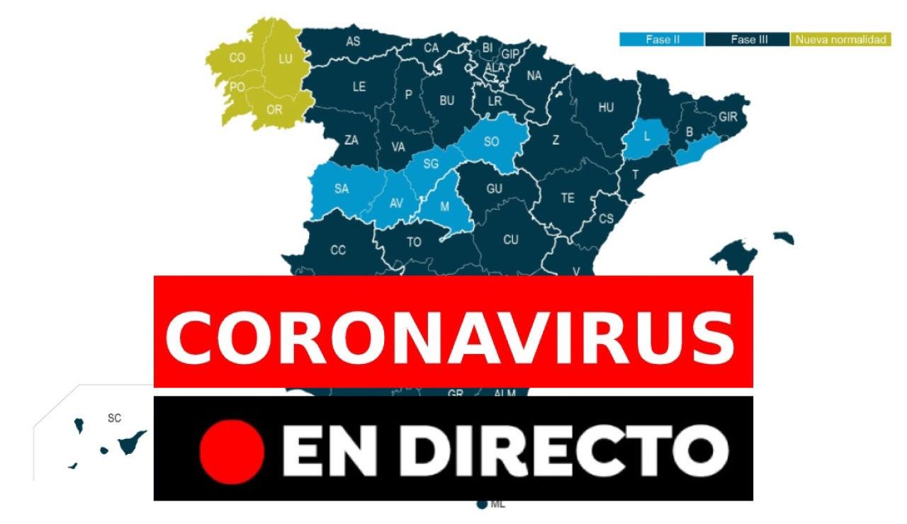 Coronavirus España: Última hora de la desescalada, nueva normalidad y nuevos casos hoy, en directo