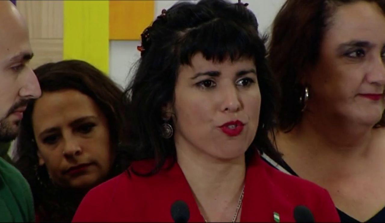 La líder de Adelante Andalucía, Teresa Rodríguez, quiere quitar las estatuas de Cristóbal Colón y de todos los esclavistas