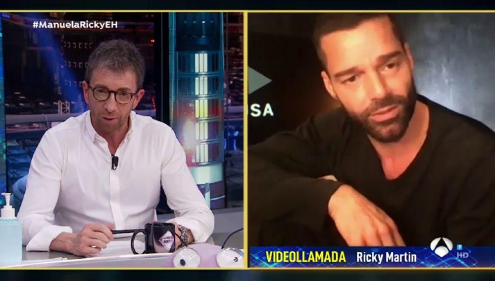 """Ricky Martin reconoce a Pablo Motos haber sentido """"ansiedad"""" durante el confinamiento"""
