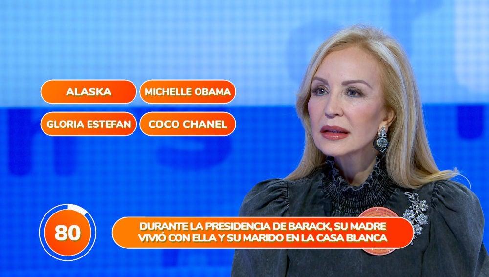 El despiste de Carmen Lomana, protagonista de la prueba 'Una de Cuatro'