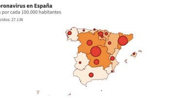 Mapa coronavirus España