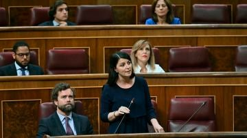 La secretaria general de Vox en el Congreso, Macarena Olona