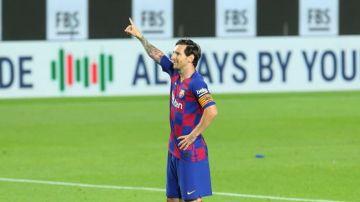 El gesto de Leo Messi tras su gol al Leganés