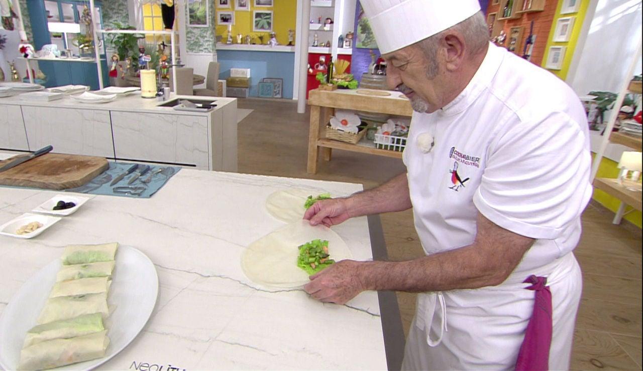 El truco de Karlos Arguiñano para hacer un rollito perfecto