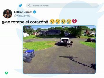 La reacción de LeBron James al ver el vídeo un niño afroamericano escondiéndose de la Policía en EE.UU.