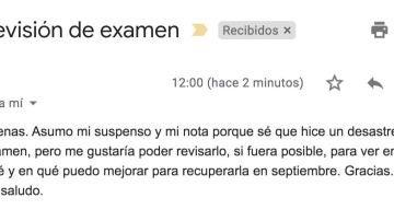 Un alumno pide así revisión de examen