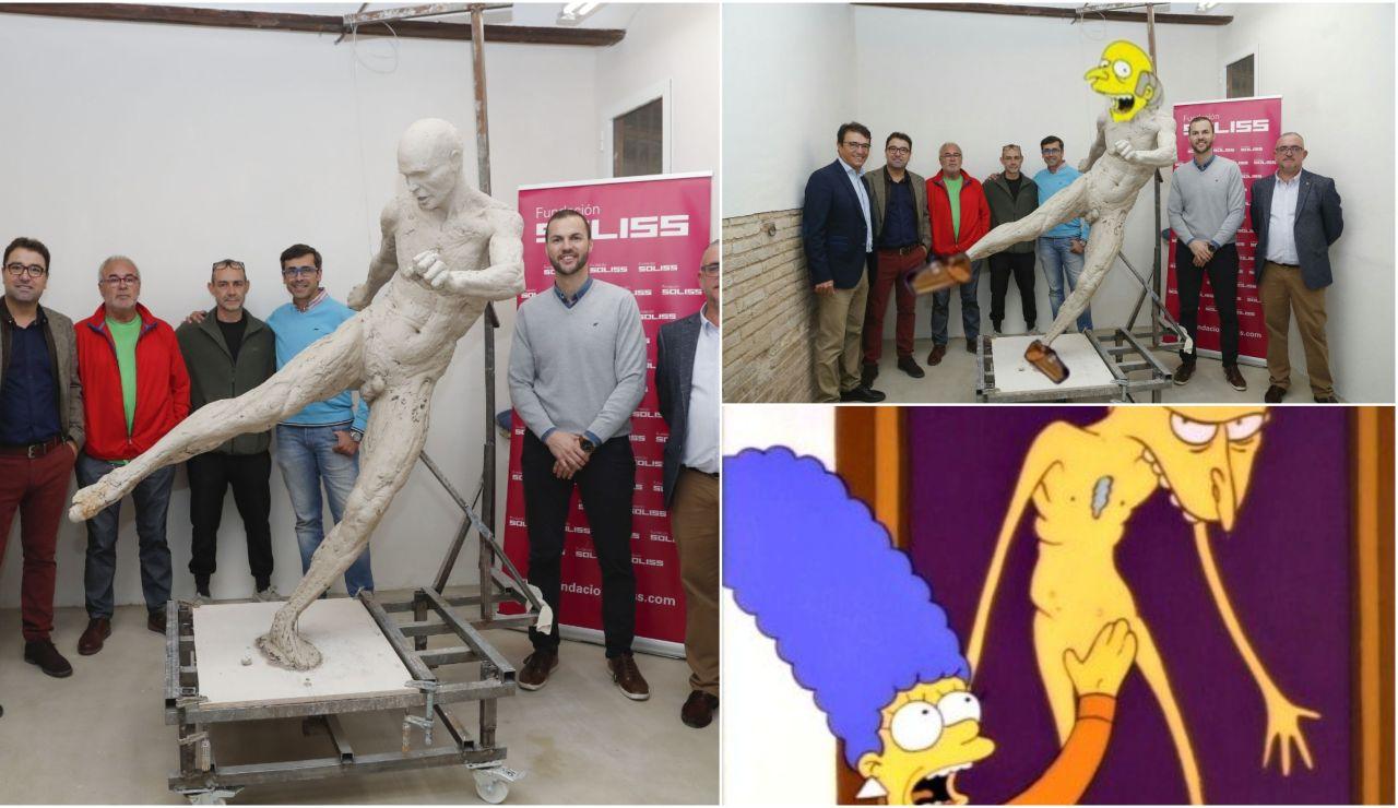 La estatua de Iniesta y los memes en las redes sociales