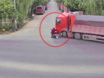 Accidente en China